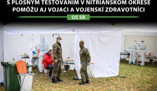 Na pomoc pri plošnom testovaní sa prihlásilo vyše 900 dobrovoľníkov, vyslali aj profesionálnych vojakov