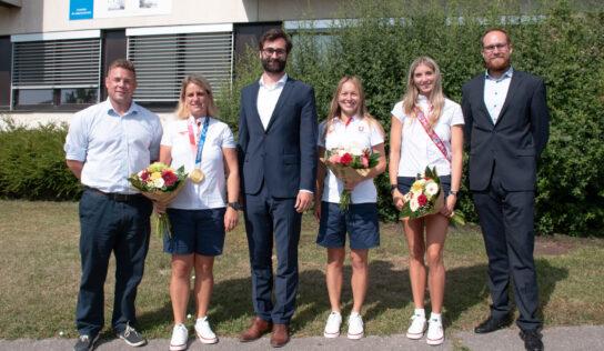Časť nitrianskych olympionikov privítali na Mestskom úrade v Nitre