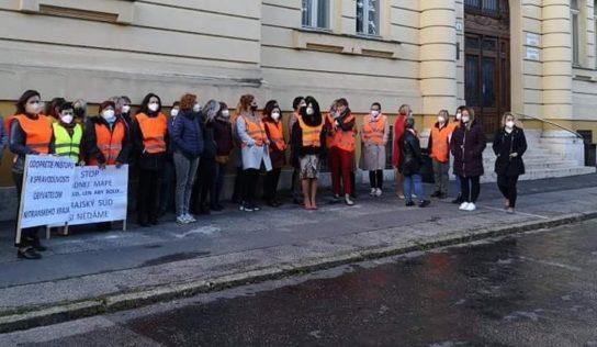 Zamestnanci súdu protestovali proti reforme súdnej mapy